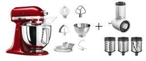 KitchenAid Küchenmaschine ARTISAN 175PS in liebesapfelrot mit Gemüseschneider