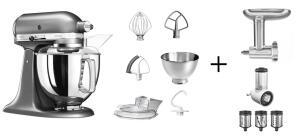 KitchenAid Küchenmaschine ARTISAN 175PS medallion silber Kochprofi-Set