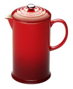Le Creuset Kaffeebereiter in kirschrot