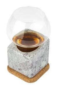 Täljsten Spirituosen-Kühler aus Speckstein mit Trinkglas