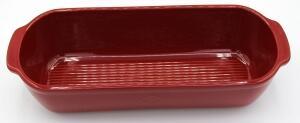 Emile Henry Ersatzunterteil für Kasten-Brotbackform groß in granatapfel