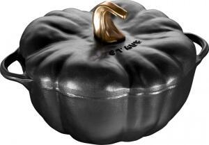 Staub Kürbis Cocotte Keramik in schwarz