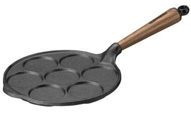 Skeppshult Eierpfanne für 7 Pfannkuchen mit Walnussgriff