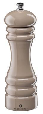 Zassenhaus Salzmühle Pastell in taupe, 18 cm
