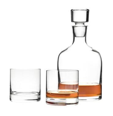 Leonardo Whiskykaraffe und Becher Ambrogio