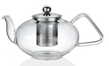 Küchenprofi Teekanne aus Glas mit Filter und Deckel