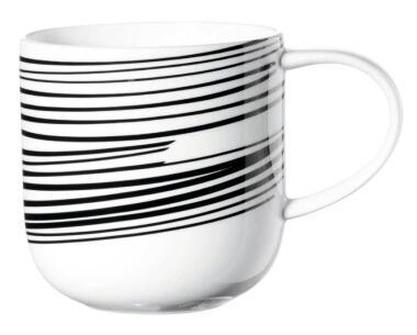 ASA Henkelbecher Coppa mit schwarzen Streifen