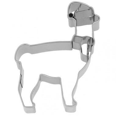 Birkmann Ausstechform Weihnachts-Lama, 9 cm