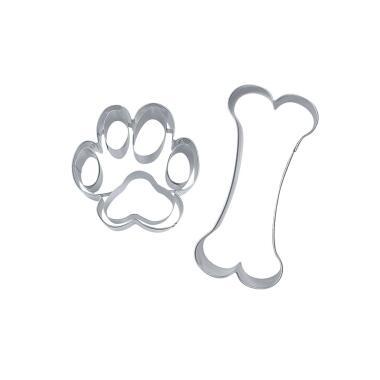 Städter Ausstechform Hundesnack 7,5–9,5 cm Set, 2-teilig