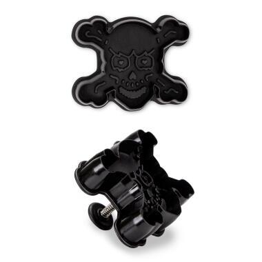 Städter Kunststoff-Ausstecher-Form Totenkopf 7,5 cm Schwarz
