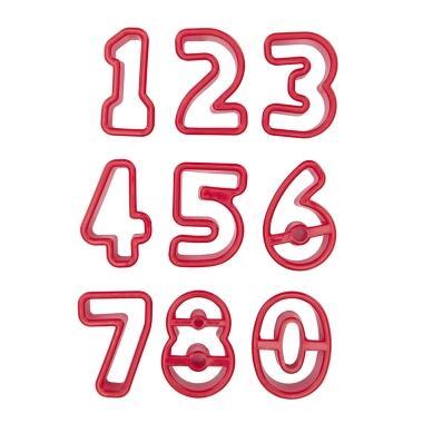 Städter Kunststoff-Ausstecher-Form Zahlen 3,5–4 cm Set, 9-teilig