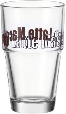 Leonardo Becher SOLO 410 ml braun Latte Macchiato, 6er-Set