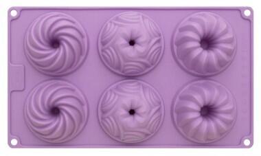Birkmann Gugelhupfform Violet aus Silikon, mittel