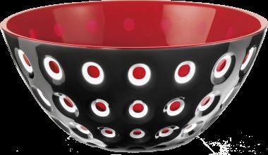 Guzzini Schüssel Le Murrine in schwarz-rot