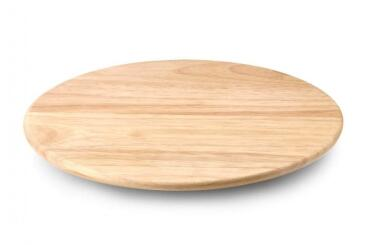 Continenta Drehplatte aus Gummibaumholz