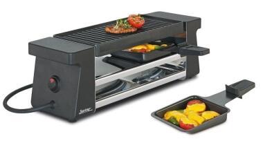 Spring Raclette2 Compact in Aluminiumguss, schwarz