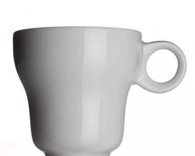 Modern Classic Milchkaffeetasse von Porzellanfabrik Walküre, weiß