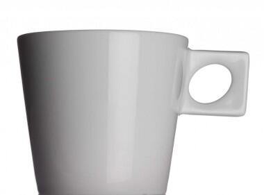 NYNY Café au lait Tasse von Porzellanfabrik Walküre, weiß