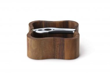 Continenta Nussschale aus Akazienholz mit Qualitätsknacker