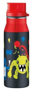 alfi Trinkflasche elementBottle Monster mit Trinkverschluss 0,6 Liter in schwarz