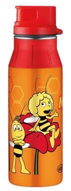alfi Trinkflasche elementBottle Biene Maja mit Trinkverschluss 0,6 Liter in orange