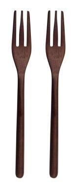 ASA Holzgabel 2er Set wood dark aus Akazie