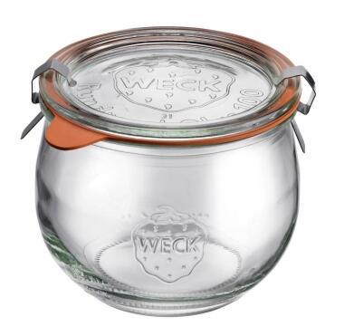 Westmark Einmachglas Tulpe mit Glasdeckel 500 ml, 4er Set