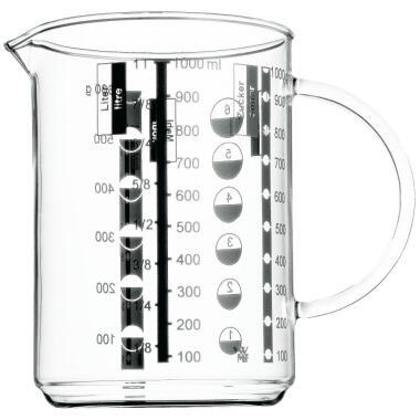 WMF Messbecher Gourmet aus Glas, 1 Liter