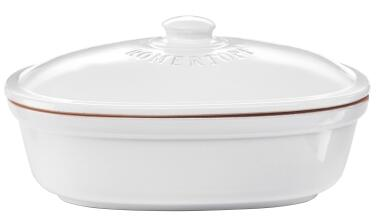 Römertopf Brot-Frische-Topf oval weiß, medium