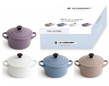 Le Creuset Mini-Cocotten Matt, 4er Set