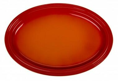 Le Creuset Servierplatte oval in ofenrot