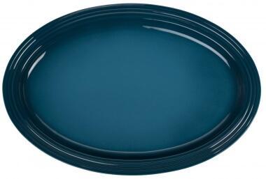 Le Creuset Servierplatte oval in deep teal