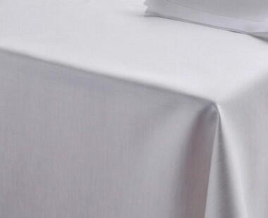 Schlitzer Leinen Tischdecke Aurelia in weiß
