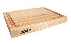 Boos Blocks Schneidebrett Pro Chef aus Ahorn mit Saftrille, 6 cm