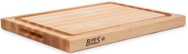 Boos Blocks Schneidebrett Pro Chef aus Ahorn mit Saftrille klein, 4 cm