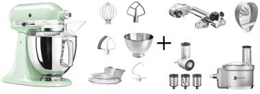 KitchenAid Küchenmaschine ARTISAN 175PS pistazie Fitness-Set