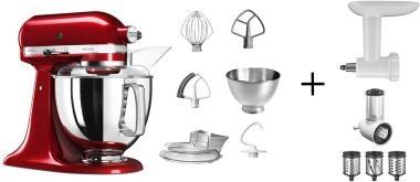 KitchenAid Küchenmaschine ARTISAN 175PS liebesapfelrot Kochprofiset
