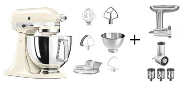 KitchenAid Küchenmaschine ARTISAN 175PS creme Kochprofi-Set