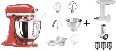 KitchenAid Küchenmaschine ARTISAN 175PS empire rot Kochprofiset