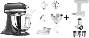 KitchenAid Küchenmaschine ARTISAN 175PS gusseisen schwarz Kochprofiset
