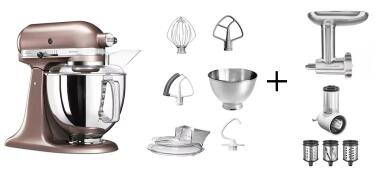 KitchenAid Küchenmaschine ARTISAN 175PS macadamia Kochprofi-Set