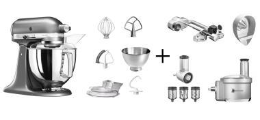 KitchenAid Küchenmaschine ARTISAN 175PS medallion silber Fitness-Set