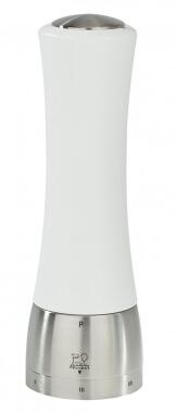 PEUGEOT Pfeffermühle Madras in Edelstahl/Buchenholz weiß mit justierbarem Mahlgrad