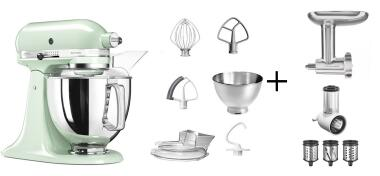 KitchenAid Küchenmaschine ARTISAN 175PS pistazie Kochprofi-Set
