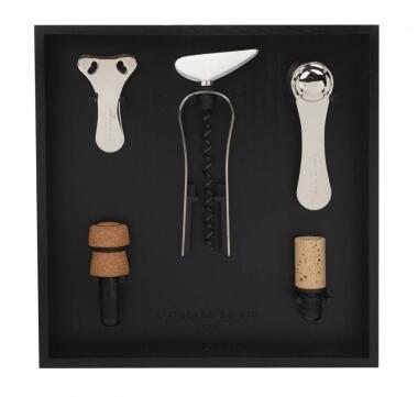 L′Atelier du Vin Wein-Set in schwarz, 5-teilig