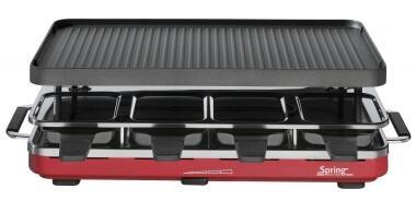 Spring Raclette8 mit Alu-Grillplatte in rot