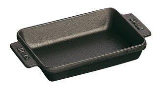 Staub Mini Auflaufform aus Gusseisen in schwarz