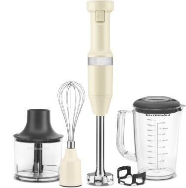 KitchenAid Stabmixer Set in creme