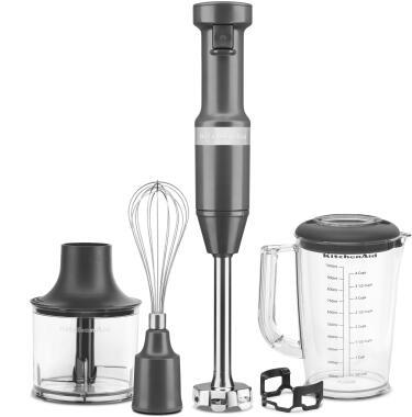 KitchenAid Stabmixer Set in dunkelgrau