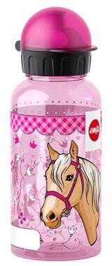 Emsa Kids Tritan Trinkflasche Pferd mit Trinkverschluss